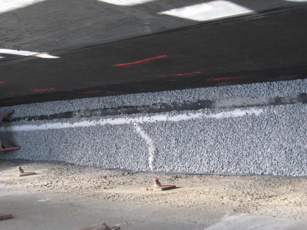 Foundation drainage installation