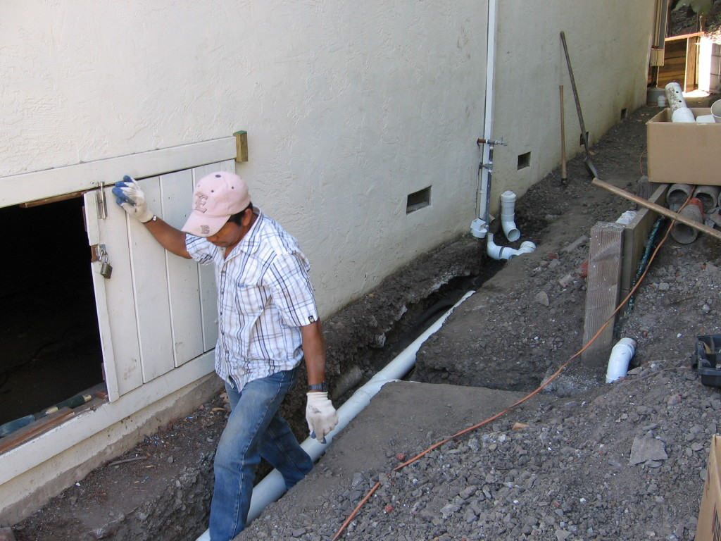 Surface and downspout drainage