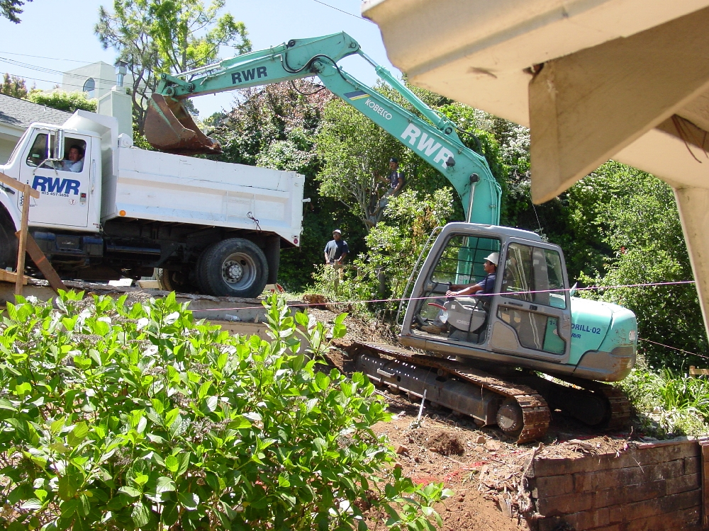 Installing pressure-treated wood lagging