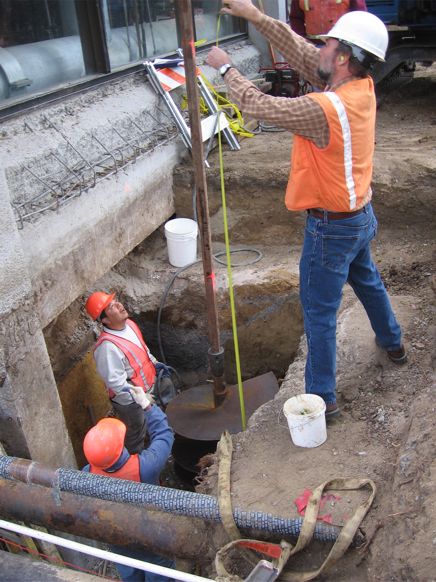 """drilling 36"""" diameter x 50 foot deep pier with track drill"""
