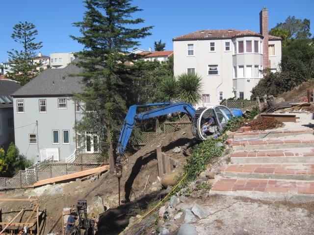 Hillside drilling in San Francisco