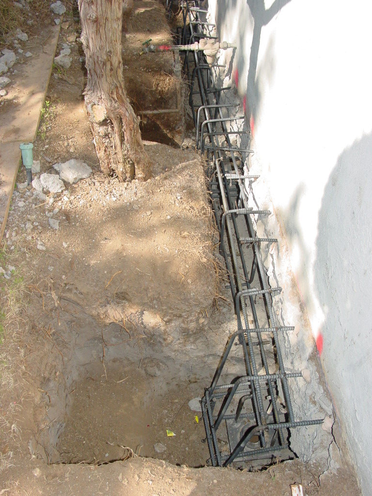 Reinforcing for steel minipile, underpinning, and gradebeam