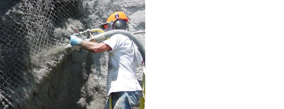 RWR Crew Installing Shotcrete Cover On Slide Repair